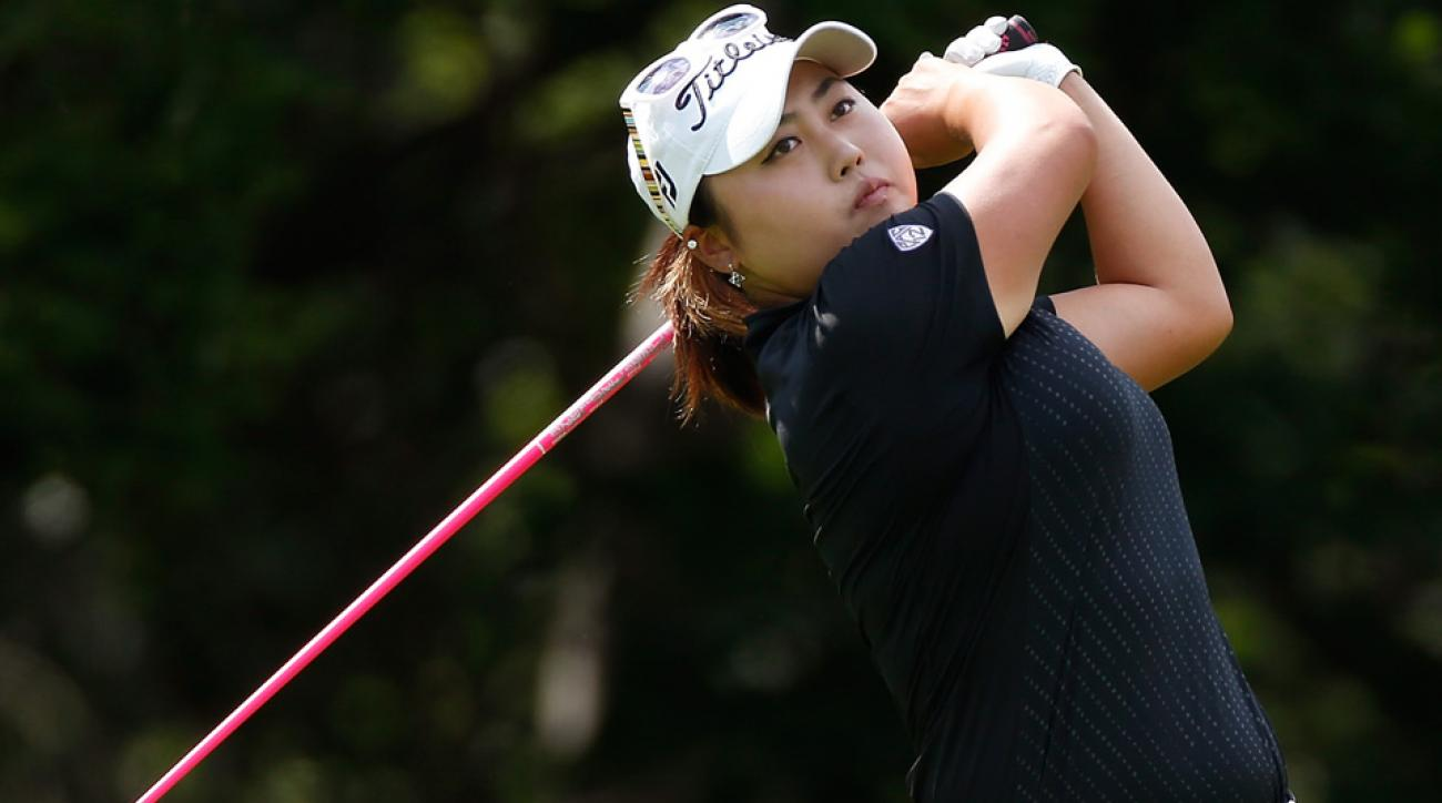 SooBin Kim shot the course record at the Women's Australian Open and has a big lead over Lydia Ko.