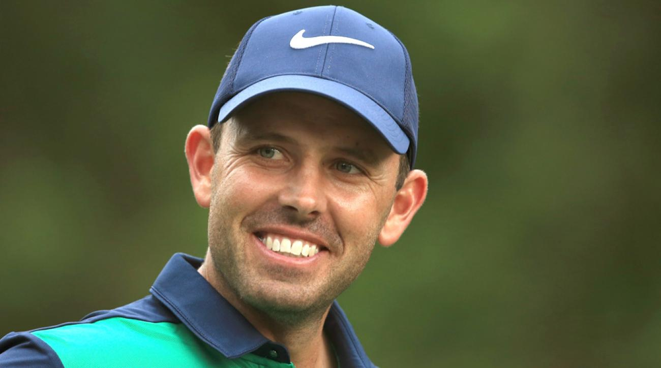 Charl Schwartzel had something to smile about after making a long birdie putt on the 13th during the fourth round of the Valspar Championship.