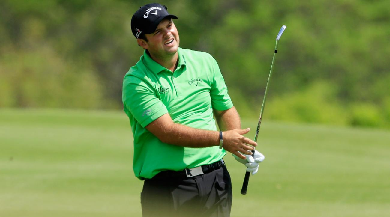 Patrick Reed wearing his custom belt buckle during the 2016 WGC Dell Match Play.