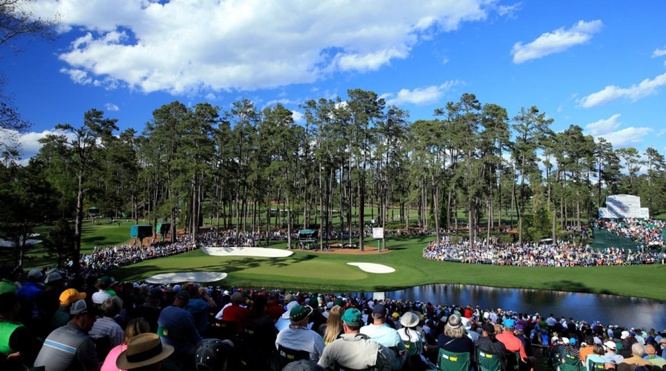 The 16th green at Augusta National during the 2016 Masters.