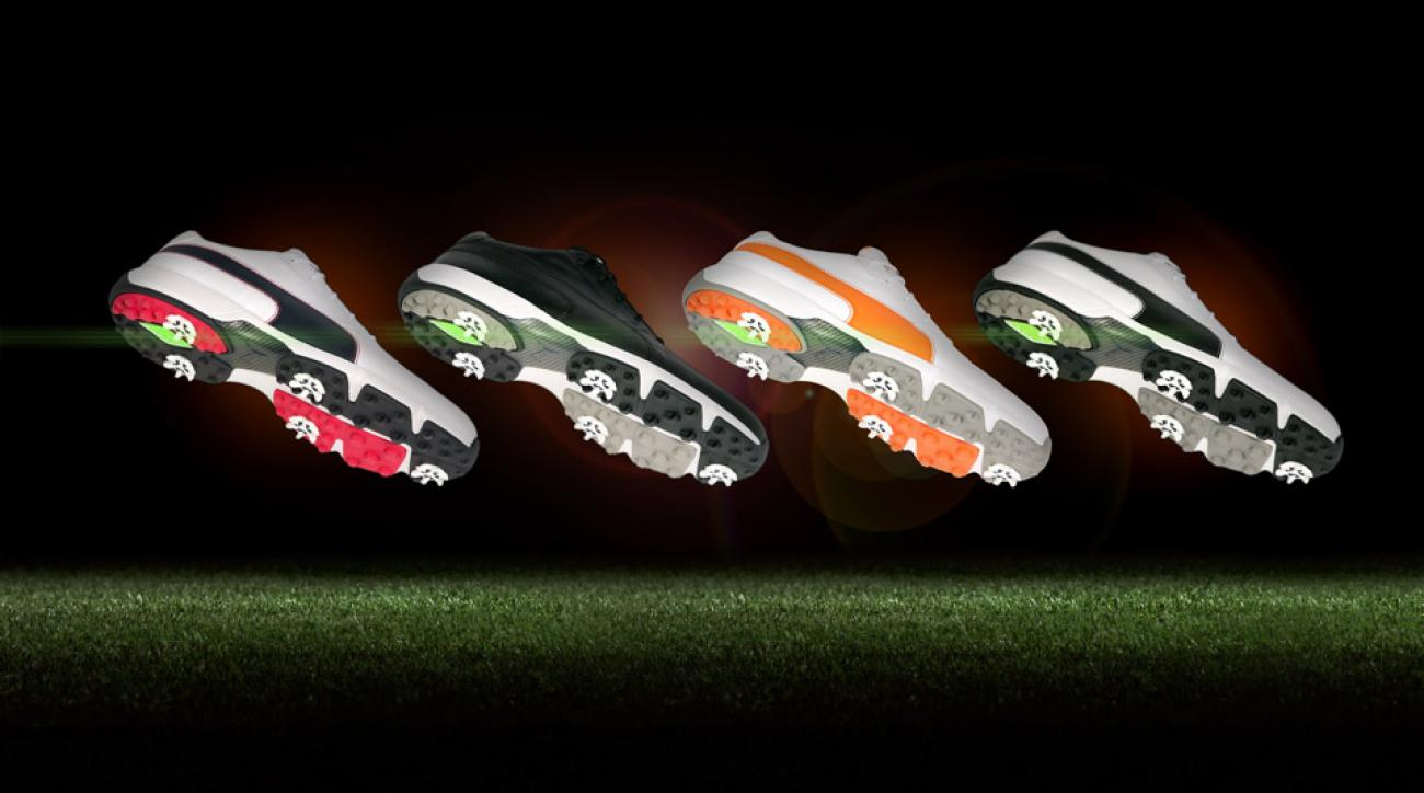 The four color options for the new Puma IGNITE Drive golf shoes.