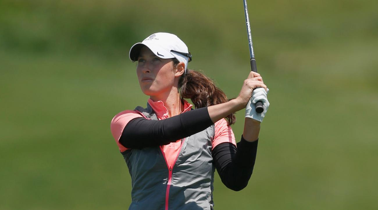 Laetitia Beck during Thursday's first round.