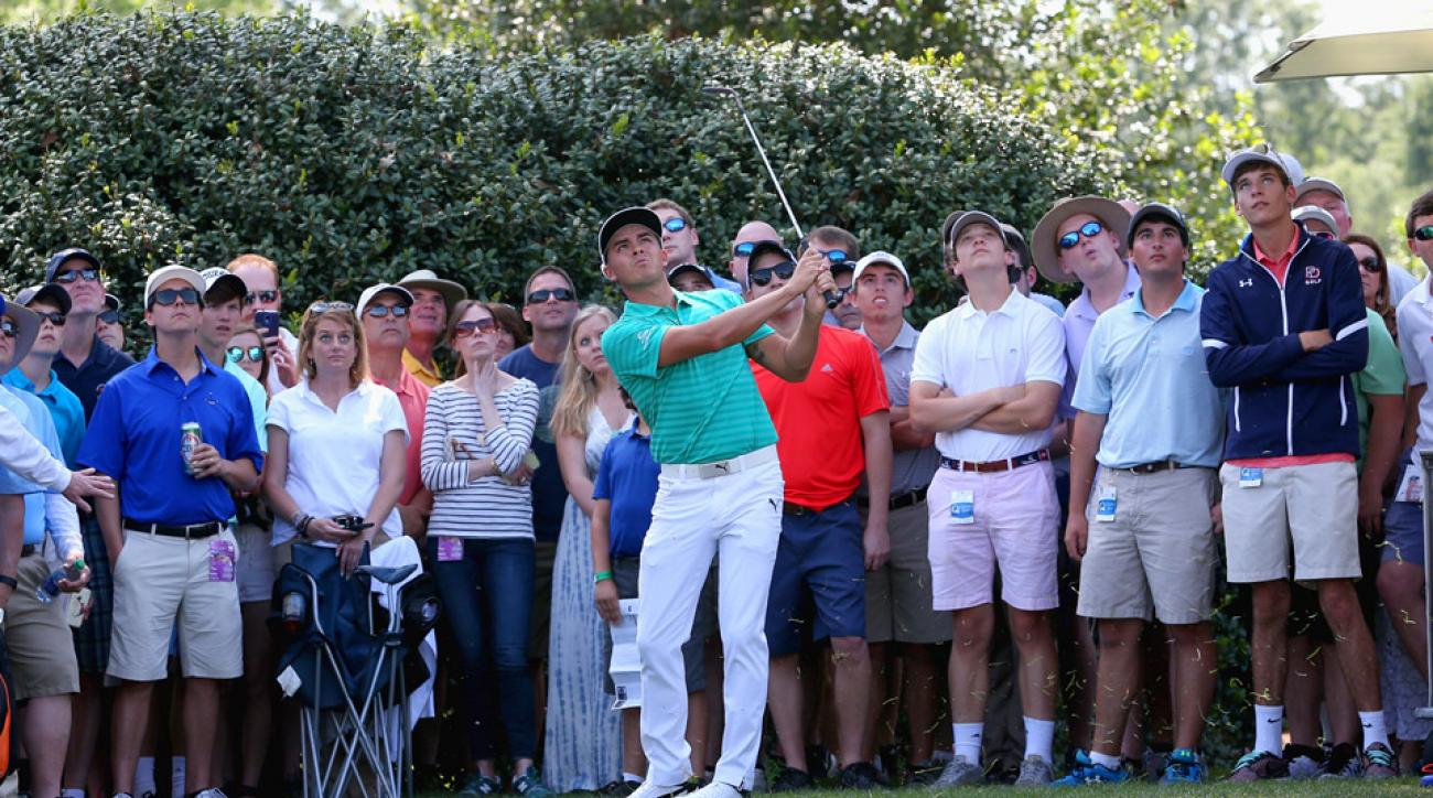 Rickie Fowler fired a four-under 68 on Saturday at Quail Hollow.