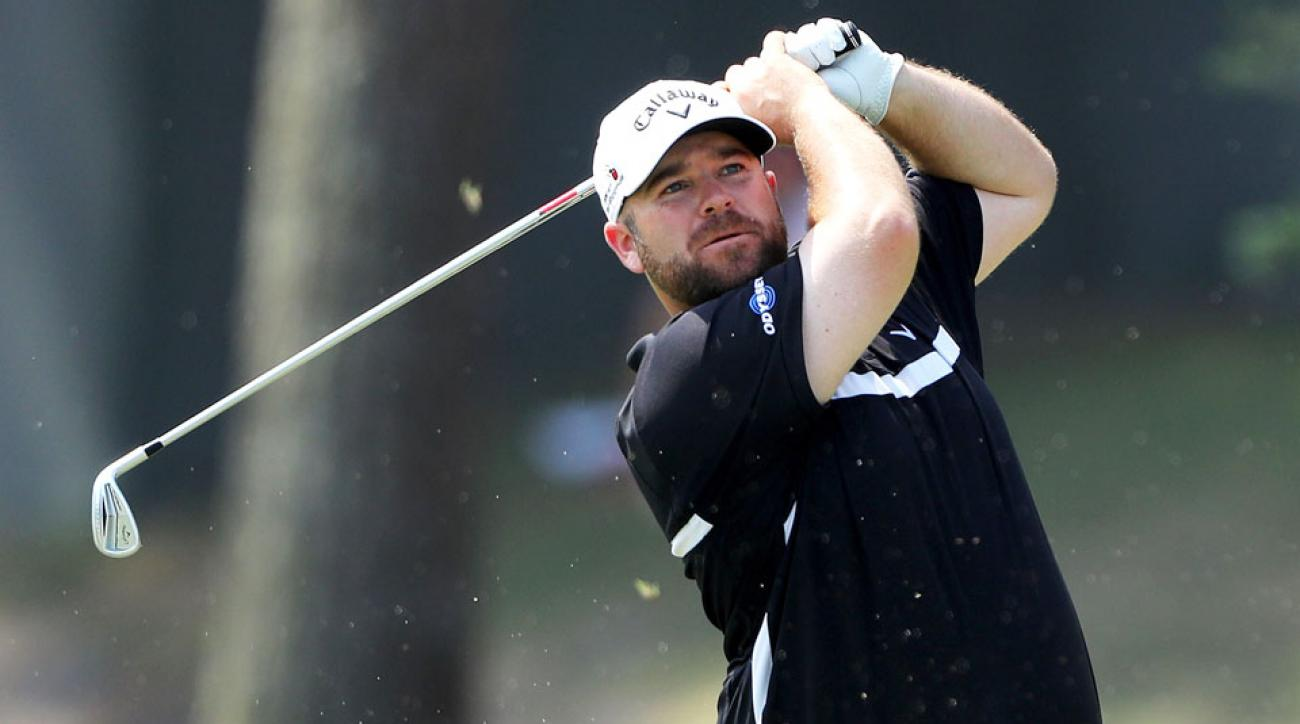 Colt Knost tied the Stadium Course record with a 9-under 63 at the Players Championship on Friday.