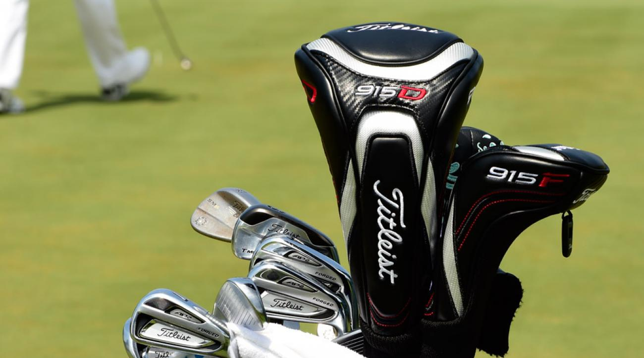 Two-time major champ Jordan Spieth carries a plethora of Titleist clubs including 714 AP2 irons, a T-MB long iron, Vokey Design SM6 wedges, and a 915D driver.