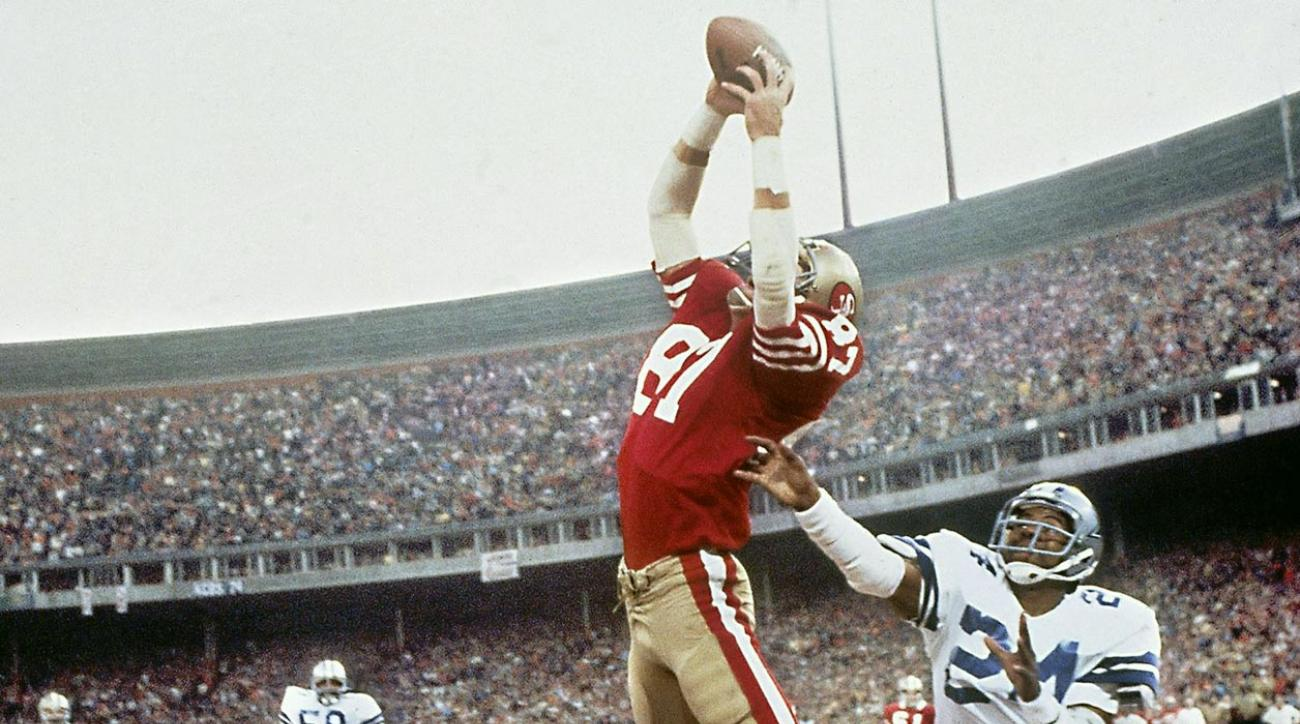 Dwight Clark's last-minute catch beat the Cowboys and put the 49ers in the Super Bowl.