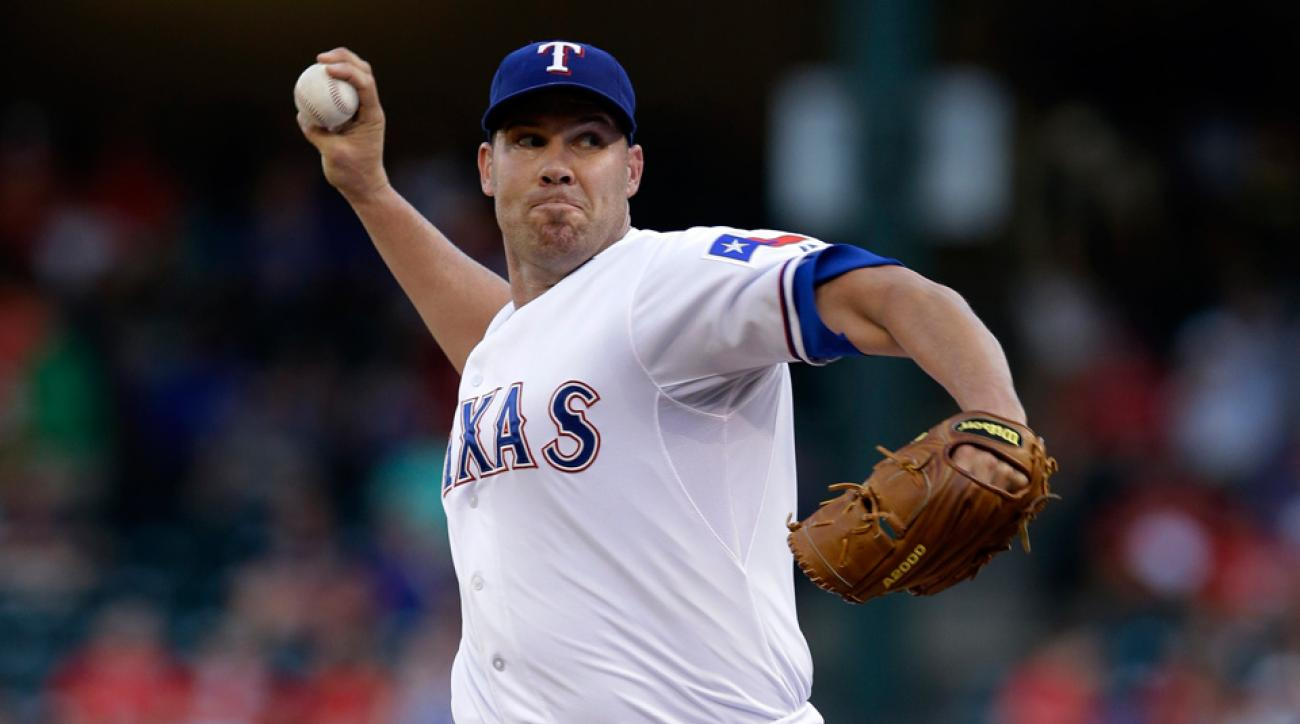 Colby Lewis' historically bad outing this week has added to the Rangers' struggles this season.