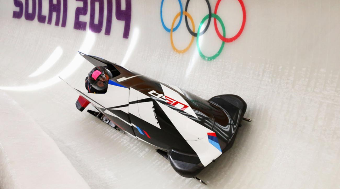 The U.S.' top bobsled team of Elana Myers (pictured) and Lauryn Williams returned to the track after crashing during their first run.