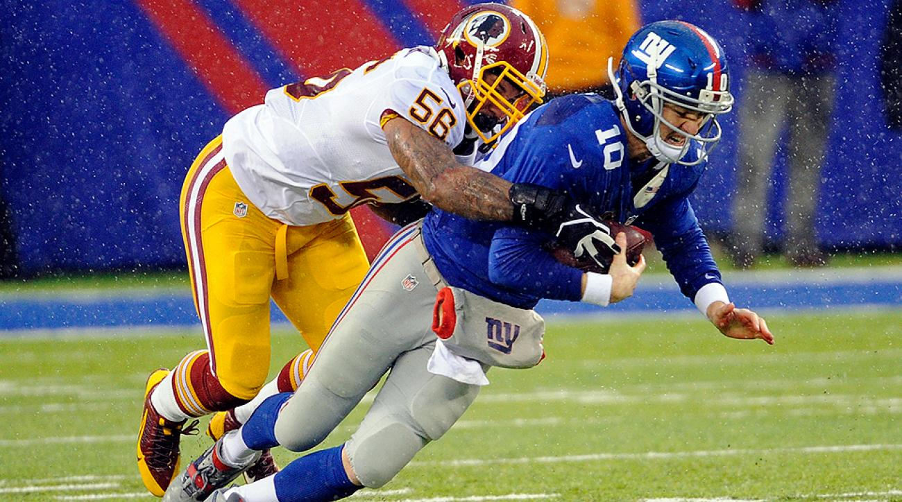 Eli Manning was under fire far too often in 2013, taking a career-high 39 sacks behind the Giants' patchwork offensive line.