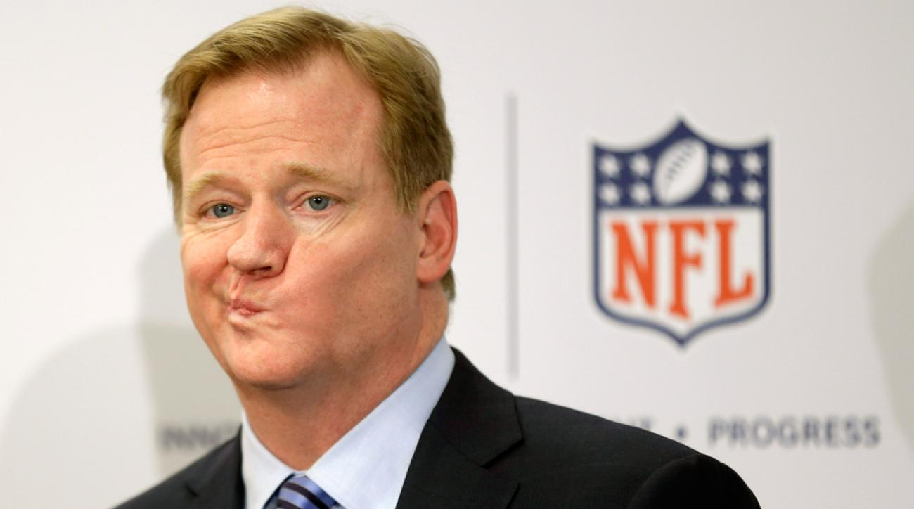 Roger Goodell, answering questions in 2013.