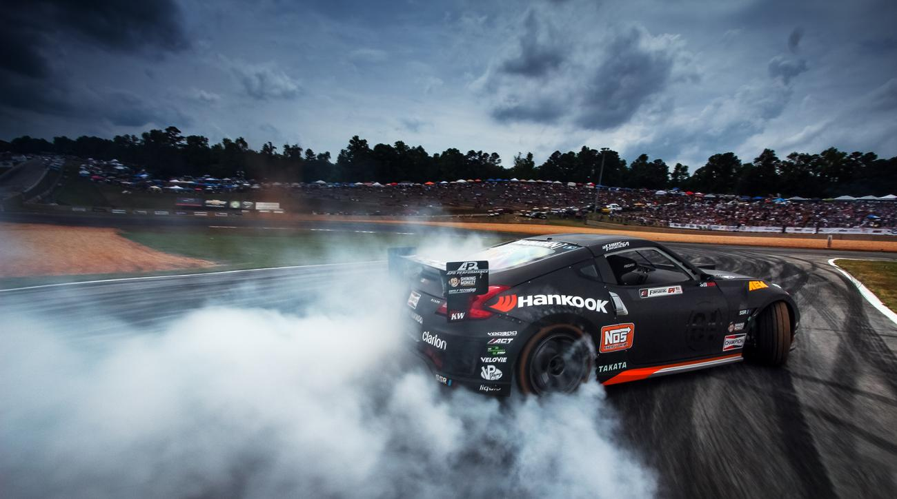 Forsberg's Hankook Tire Nissan 370Z at the Formula Drift championships.