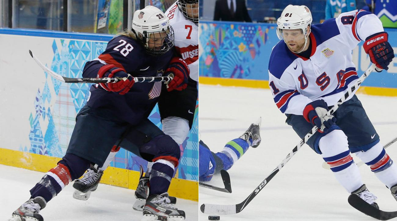 Amanda (left) and Phil Kessel are among the elite forwards for the Team USA's men's and women's ice hockey programs.