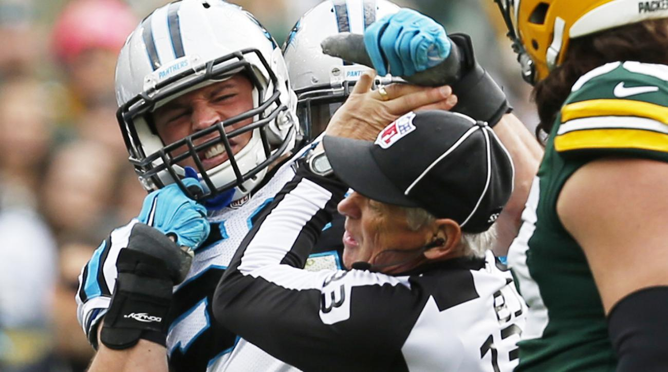 NFL admits Panthers' Luke Kuechly should not have been ejected