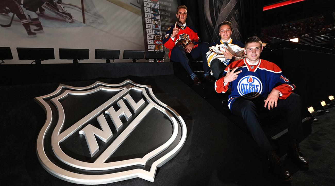 Aaron Ekblad of the Florida Panthers, Sam Reinhart of the Buffalo Sabres and Leon Draisaitl of the Edmonton Oilers went 1-2-3 at the draft.
