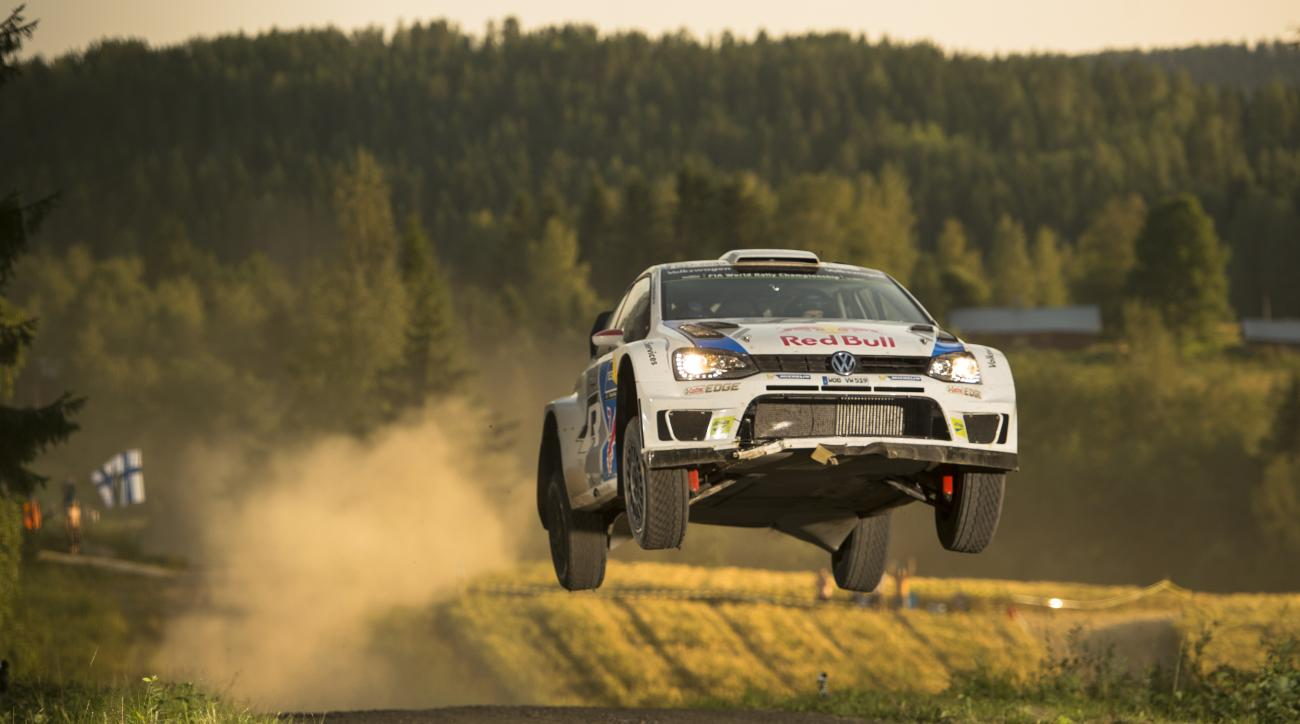 Latvala of Finland races at the FIA World Rally Championship in Jyvaskyla, Finland