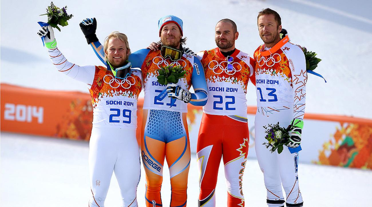U.S. skiers Andrew Weibrecht (left) and Bode Miller (right) snagged silver and bronze, respectively, in the men's Super-G.