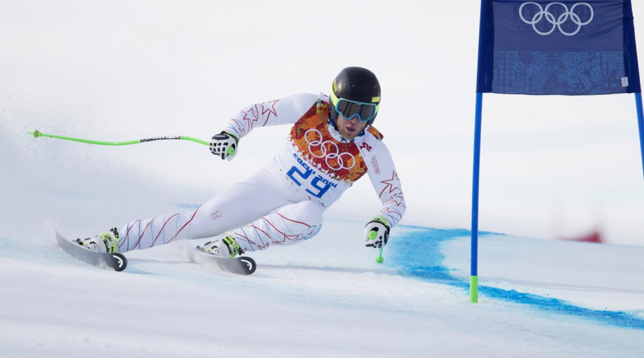 Andrew Weibrecht took silver in the men's super-G alpine skiing event in Sochi.