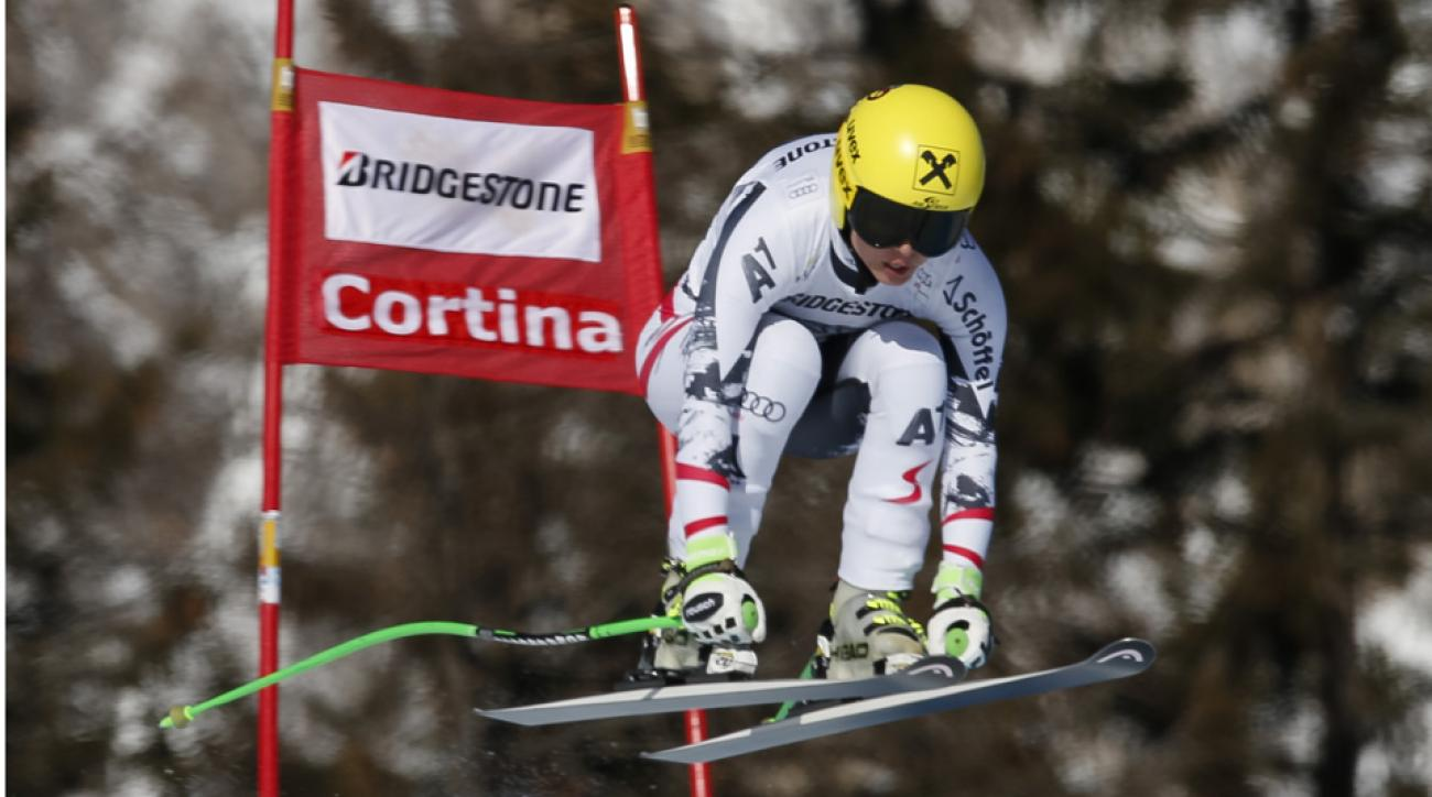 Austria's Anna Fenninger, seen here at last month's World Cup downhill in Italy, had the fastest downhill training run.