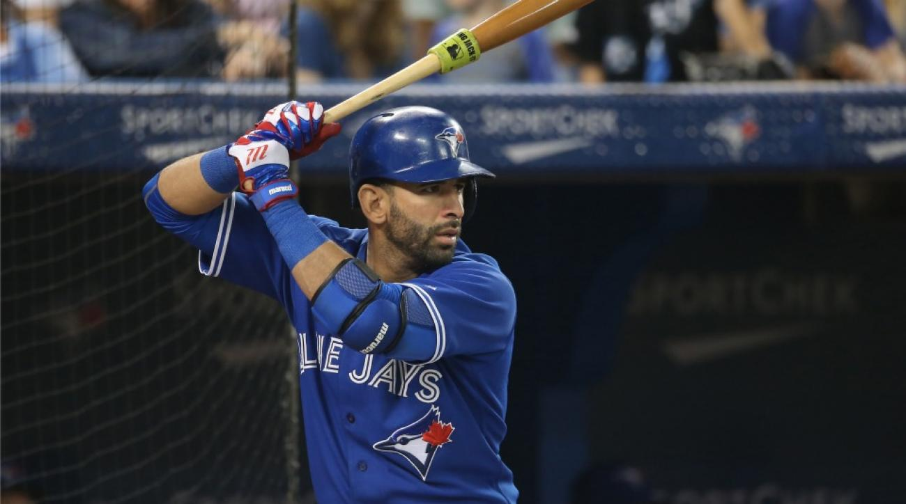 Jose Bautista led the AL with a .433 on-base percentage entering Sunday.