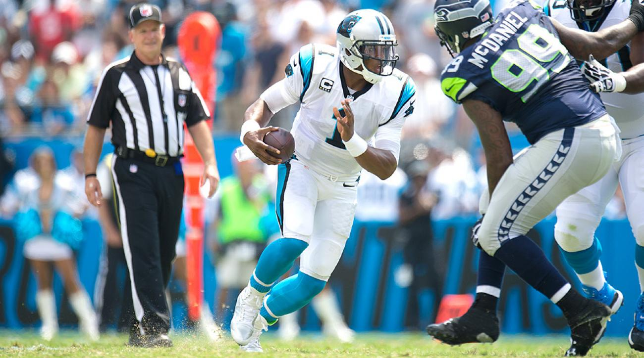 Cam Newton threw for 3,379 yards and 24 touchdowns last season, and rushed for 585 yards and six touchdowns.