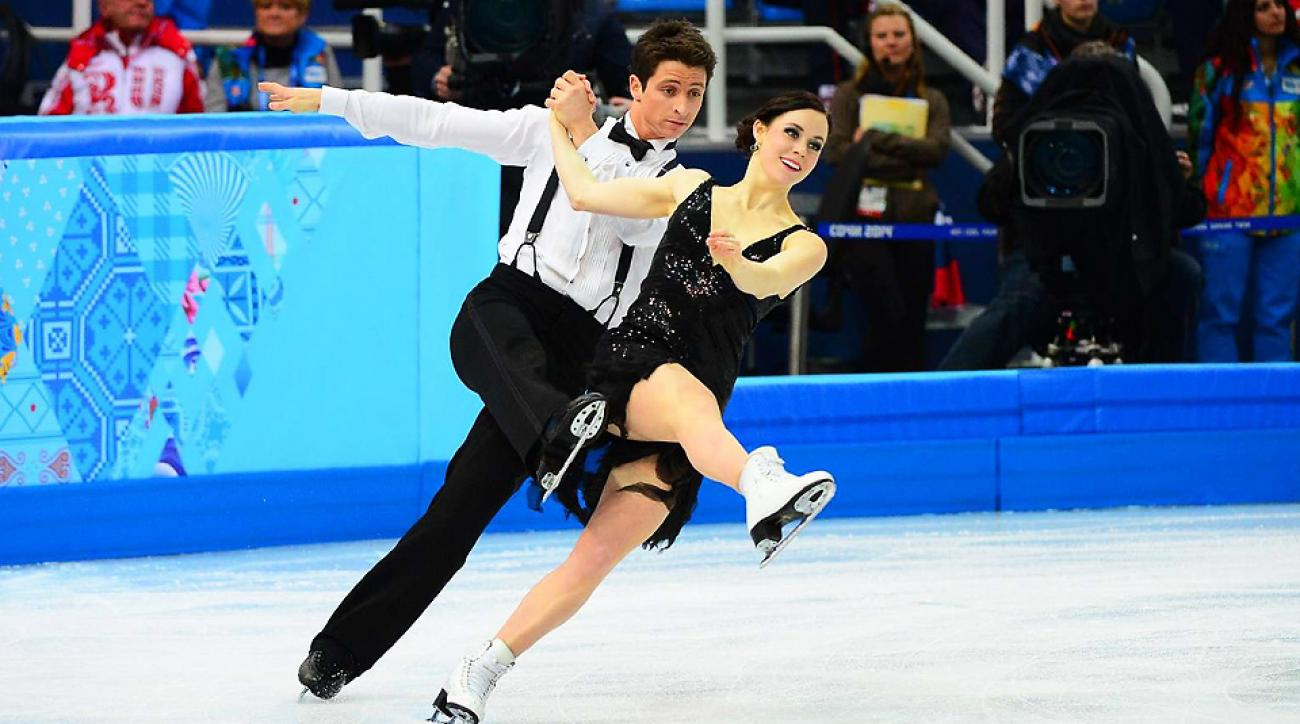 Canada's Tessa Virtue and Scott Moir will seek a gold medal in their final skate as an ice dancing couple on Monday.