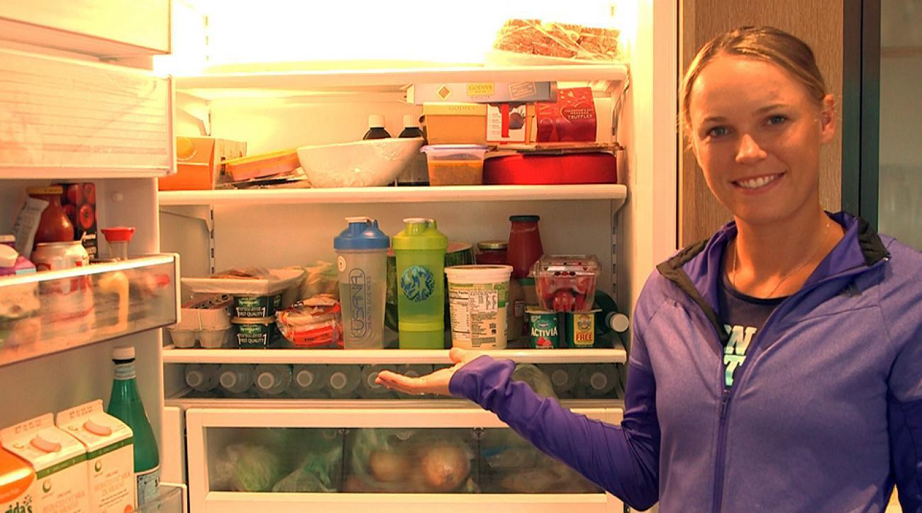 Going inside Caroline Wozniacki's fridge.