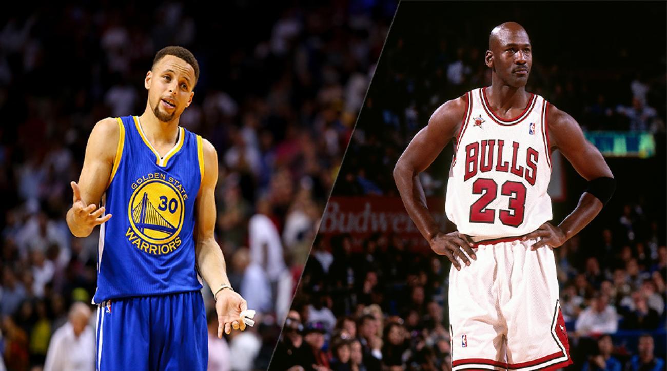 Steph Curry and Michael Jordan