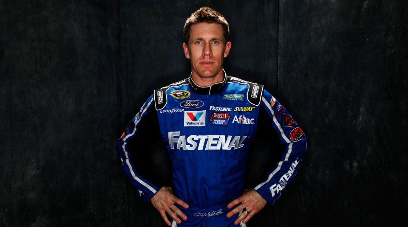 NASCAR driver Carl Edwards has shown he's serious about his fitness, training roughly six days every week.