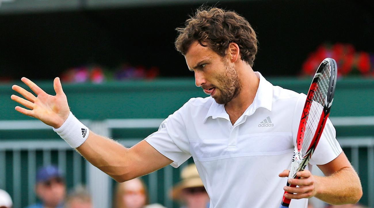 Ernests Gulbis was upset by Sergiy Stakhovsky in the second round of Wimbledon.