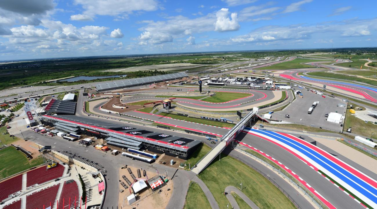 The Circuit of The Americas in Austin, Texas has been transformed for the X Games, with mounds of dirt in place for BMX and jumps galore ready to go for the Vert competitions.