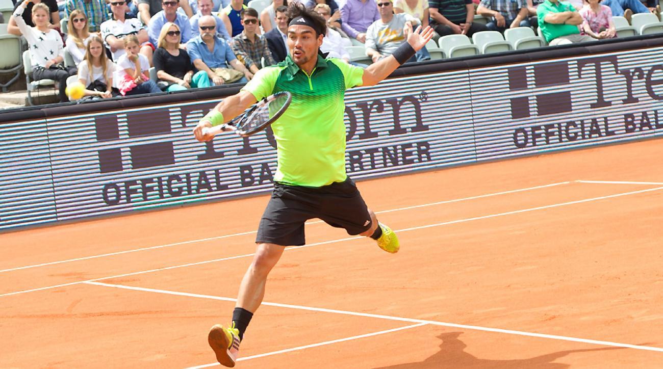 Fabio Fogninin lost 6-4, 6-0 against Filip Krajinovic at the bet-at-home Open in Hamburg.