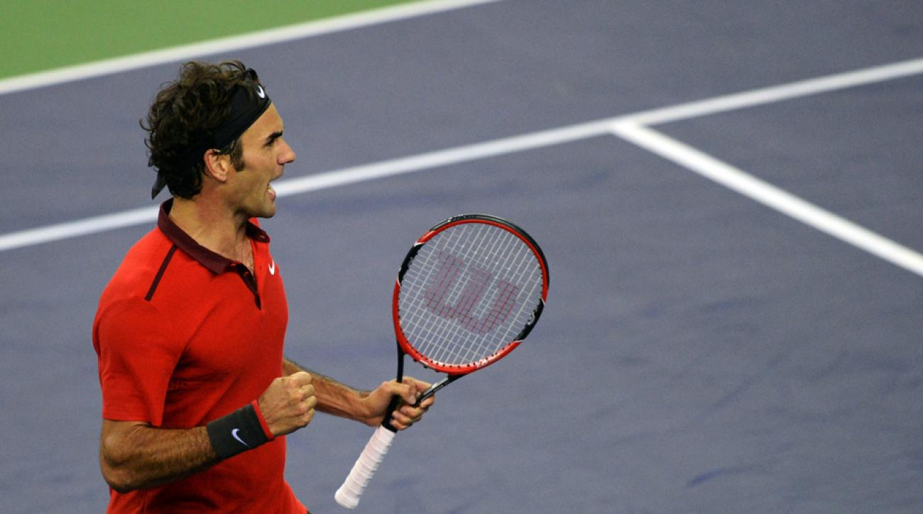 Roger Federer at the Shanghai Masters 1000