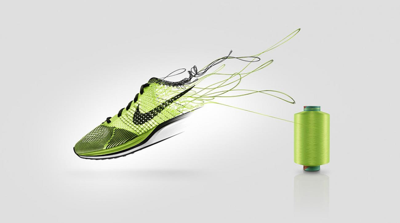 Not just your run-of-the-mill, quilt-shop-style yarn. Nike has scientifically engineered super yarn—which they dub Flyknit—to lead its new wave of performance footwear.