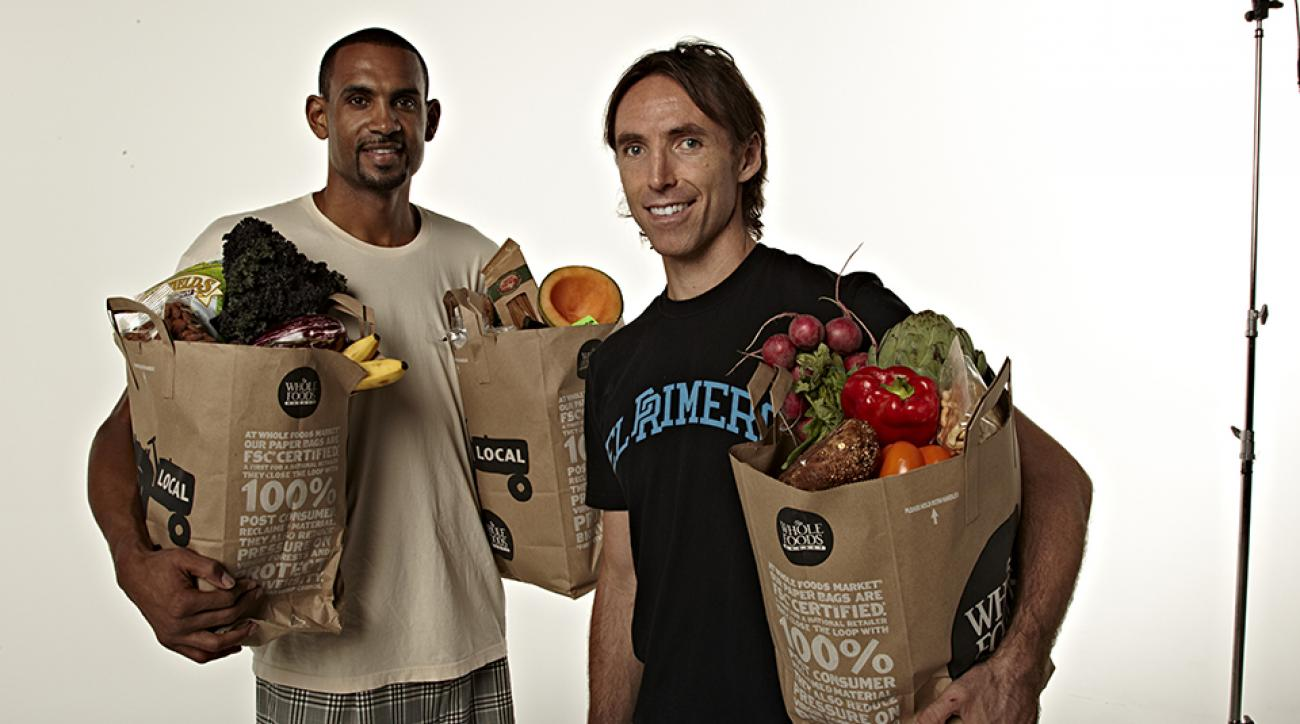 Steve Nash and Grant Hill ushering in the healthy eating culture in the NBA.