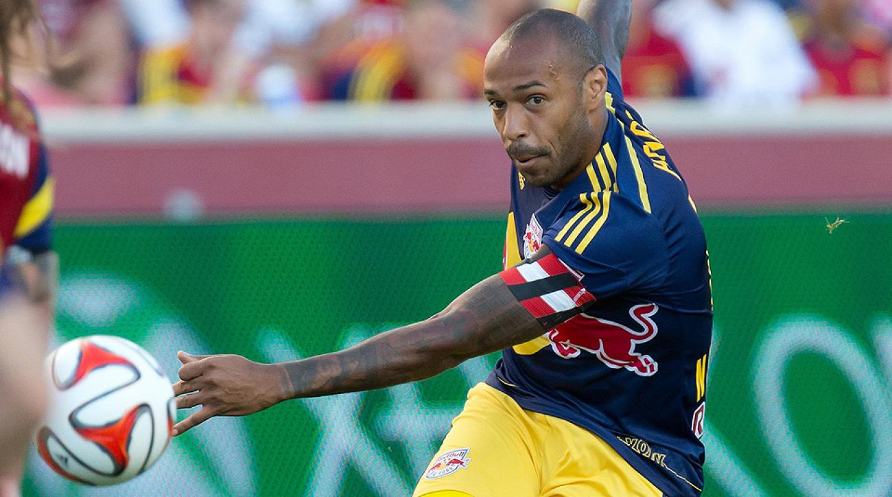 Thierry Henry's marker earned a tie for the Red Bulls after they fell behind Real Salt Lake.