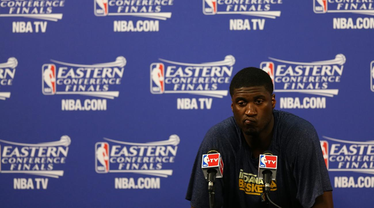 After averaging some of the worst stats in NBA history, Roy Hibbert is still searching for answers as the Pacers try to fight for their playoff lives against the Atlanta Hawks.