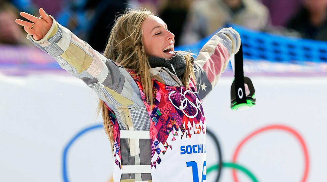 American Jamie Anderson followed up Sage Kotsenburg's gold medal in the men's slopestyle with a gold of her own Sunday.