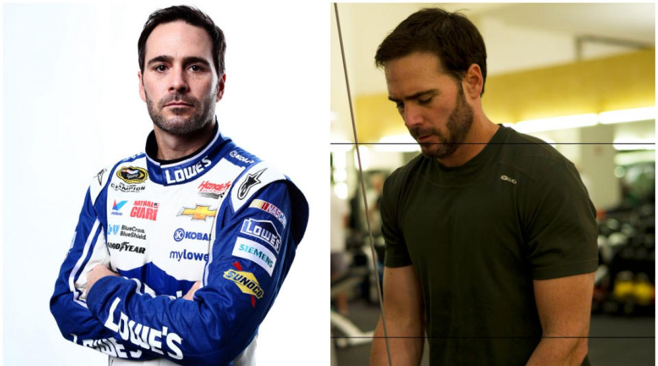 Jimmie Johnson lost nearly 15 pounds over the past few years while putting on muscle, thanks to a challenging regimen of triathlon training and clean nutrition.