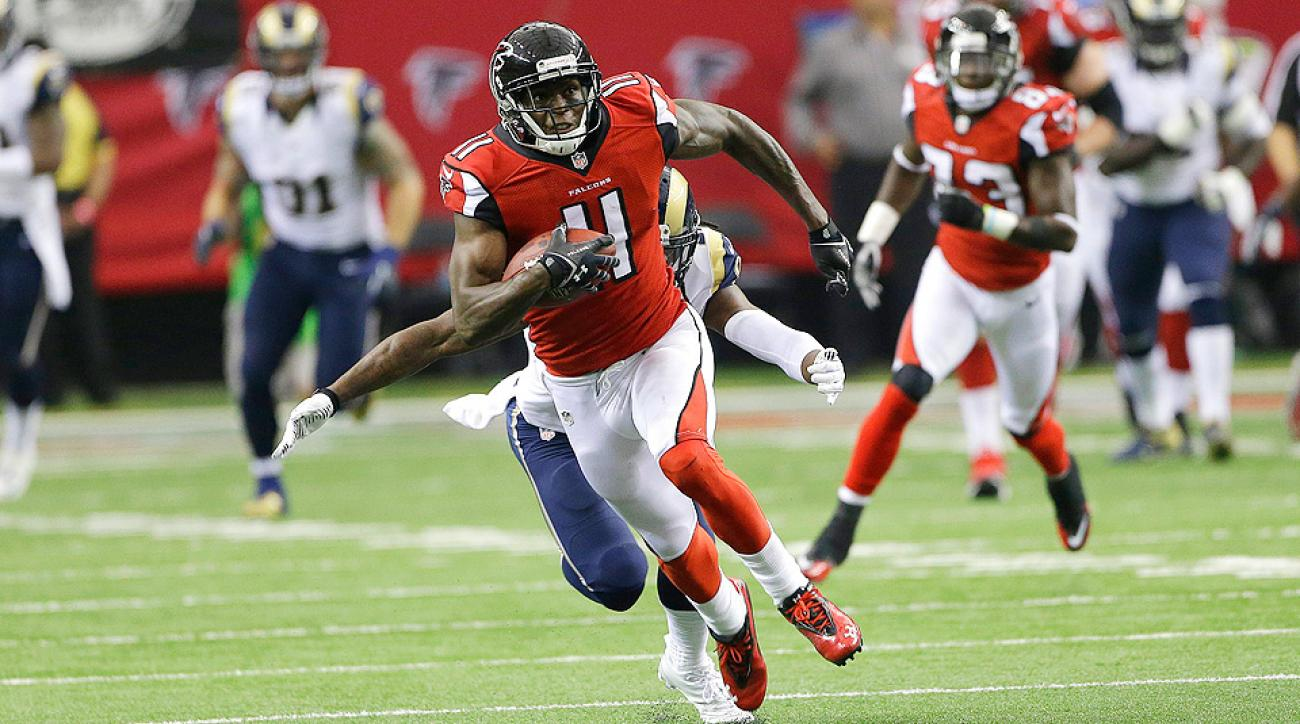 Julio Jones racked up 41 receptions for 580 receiving yards and two touchdowns before suffering a season-ending ankle injury in Week 5 last season.