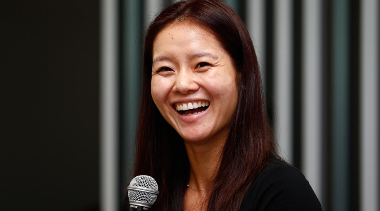 Li Na at the WTA Finals in Singapore in October 2014.