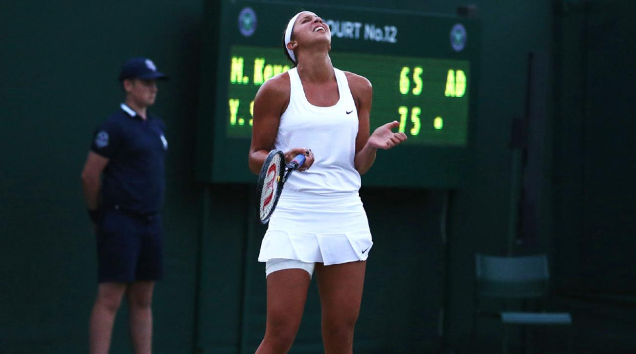 Madison Keys' match against Yaroslava Shvedova was suspended due to darkness, but Keys couldn't resume due to a groin injury.