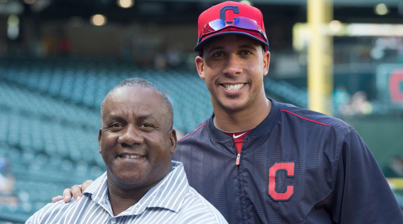 Michael Brantley (right) and his father Mickey.