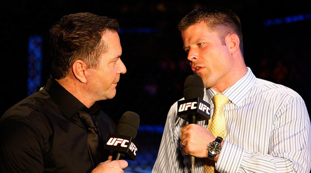 Mike Goldberg (left), who's primarily a UFC commentator, made his NFL play-by-play debut last Sunday.