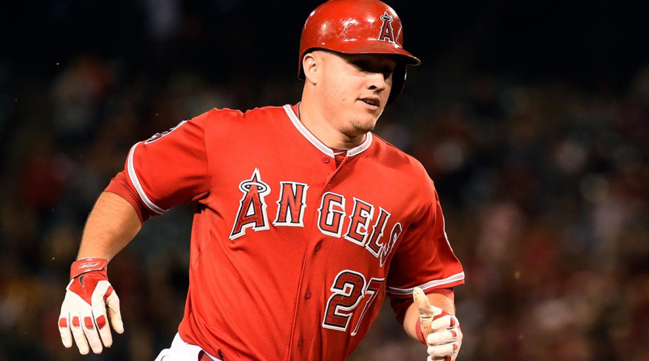 Mike Trout now leads the American League in slugging percentage and OPS and is second in on-base percentage.