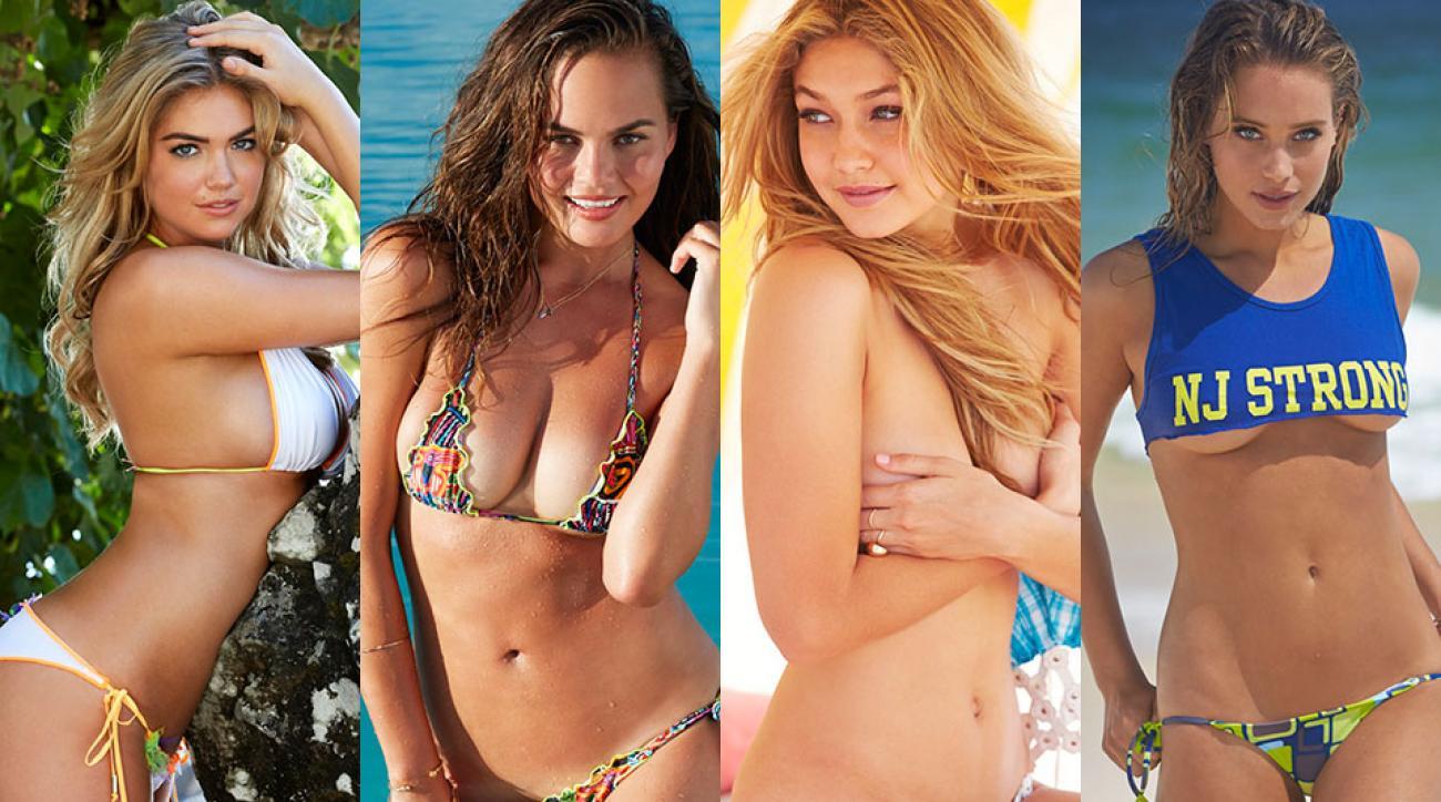 Kate Upton, Chrissy Teigen, Gigi Hadid & Hannah Davis, SI Swimsuit 2014