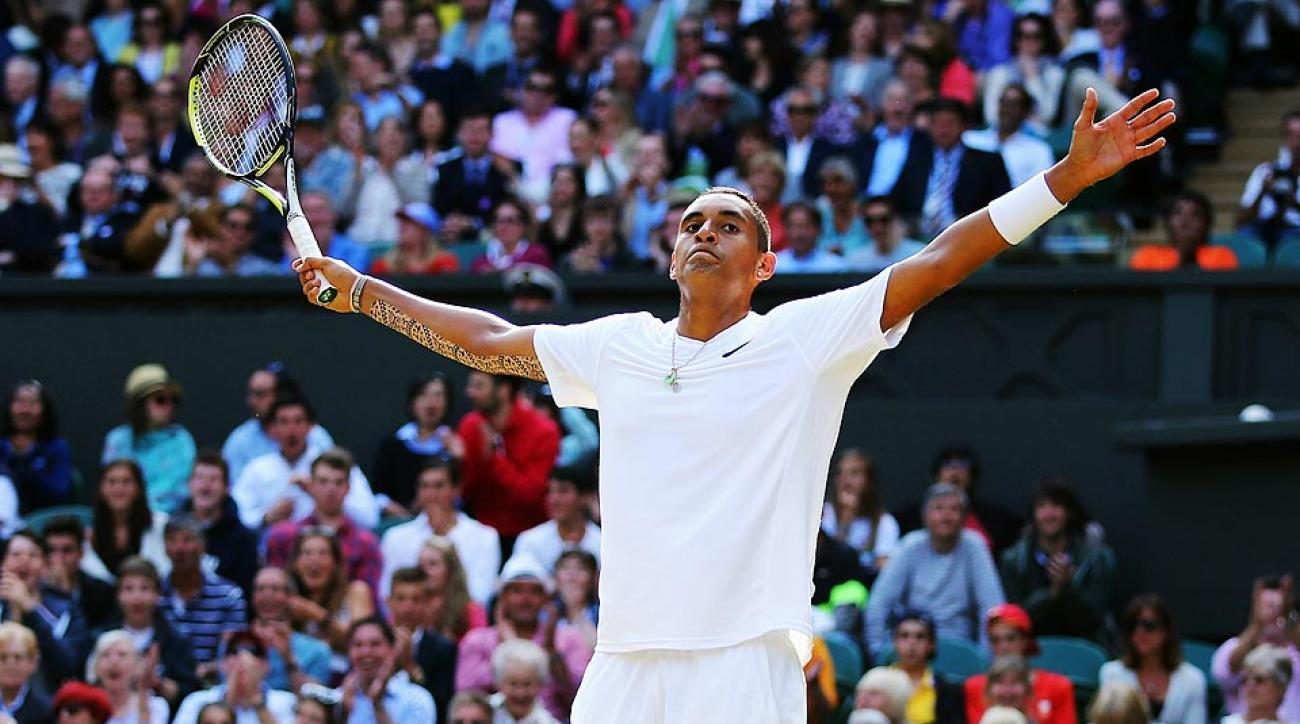 Nick Kyrgios, a 19-year-old Australian, has advanced to the quarterfinals in his Wimbledon debut.