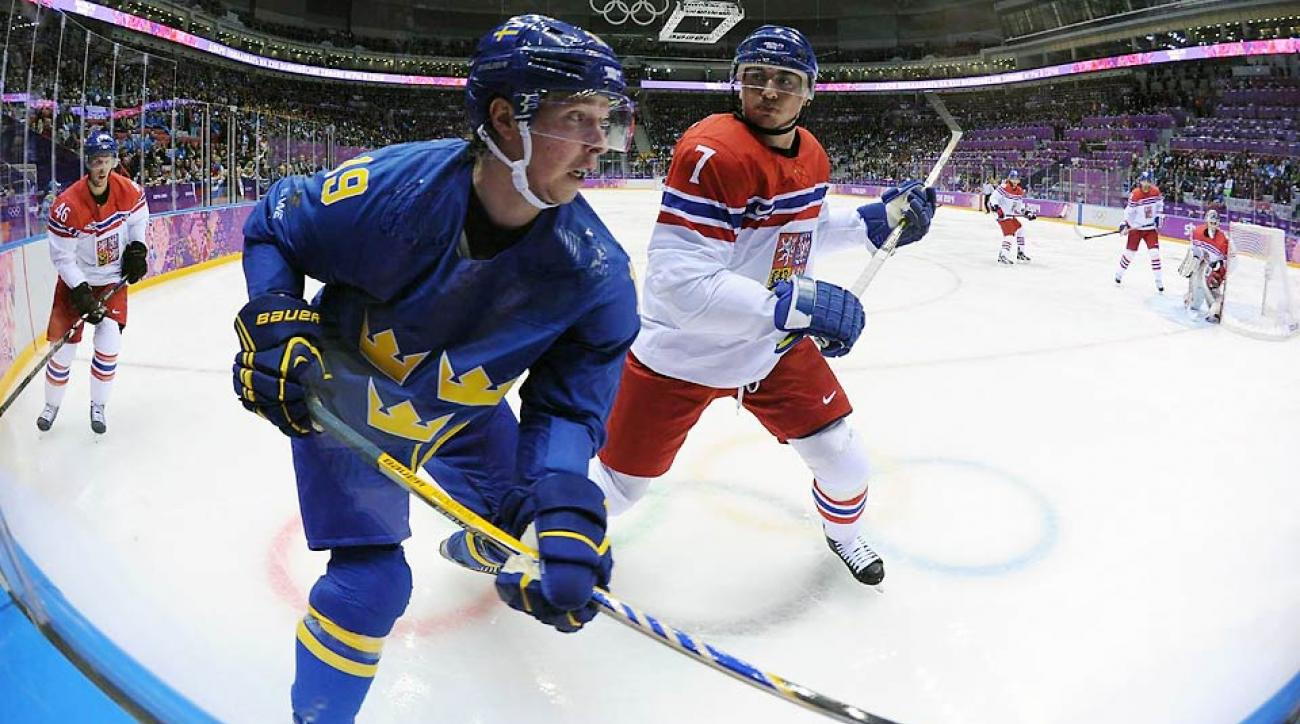Nicklas Backstrom had been critical to Sweden's offense, recording four assists in five games on Sweden's top line.