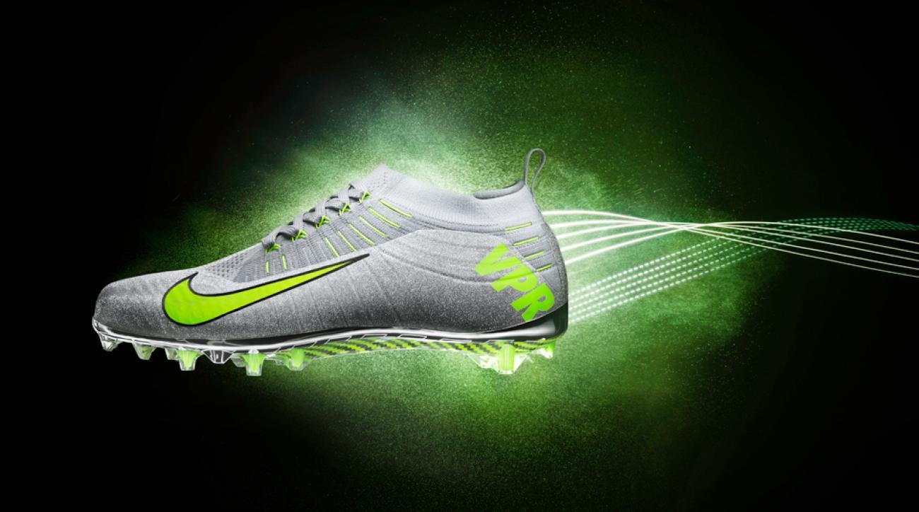 Nike's new Flyknit Vapor football cleat.