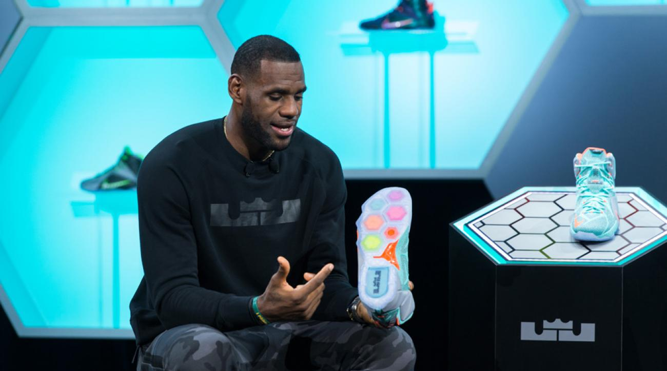 Cleveland Cavaliers forward LeBron James talks about the release of his new Nike shoe.