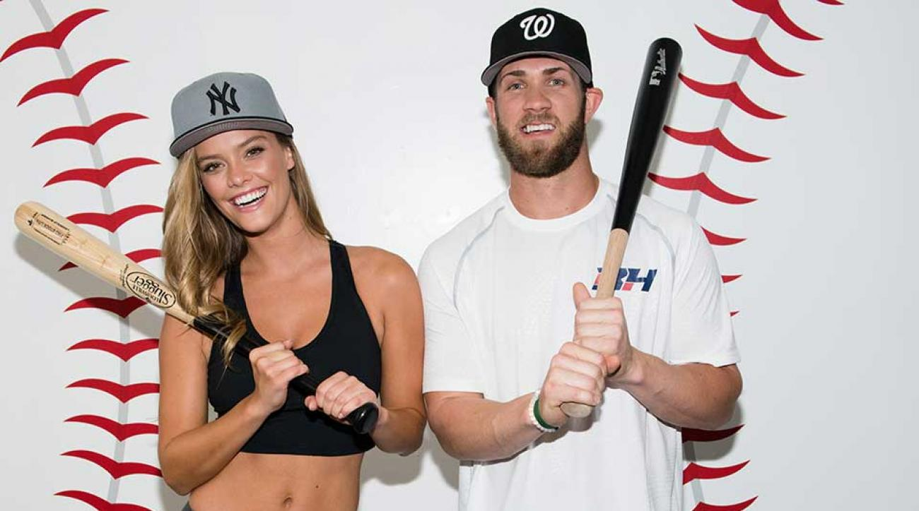 Nina Agdal and Bryce Harper for New Era